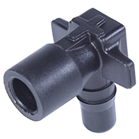 Spout Adaptor 90° Black